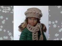 Два в одном. Вяжем шапку и шляпку / Шапочки для кукол. Выкройки и схемы вязания / Бэйбики. Куклы фото. Одежда для кукол