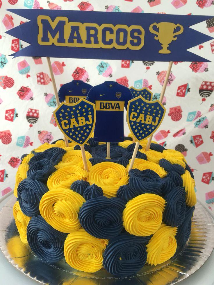 Bolo Boca Juniors / Boca Juniors Cake / Pastel Tarta Boca Juniors