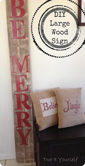Pottery Barn Inspired Vertical Wood Christmas Sign #listandsellwithcandicecattell https://www.facebook.com/candicecattellestateagent