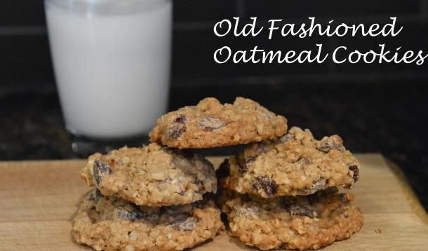 Crunchy versus chewy: Old Fashioned Oatmeal Cookies