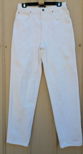 "VERSACE Jeans Couture Womens Denim Jeans Waist 32"" (81cm) White Made in Italy."