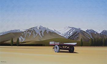 Brian Dahlberg // Mt Hutt Mountain Range #Art #Landscape #Oil #Painting #NewZealand