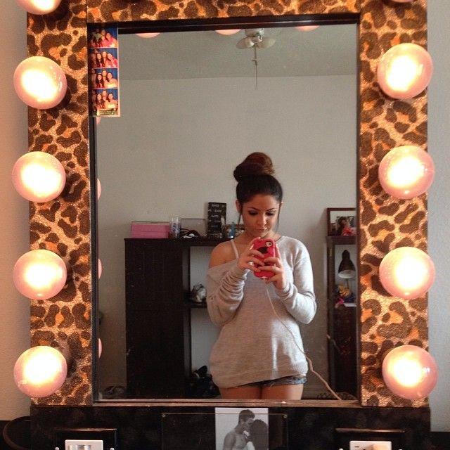 Leopard print vanity mirror<3<3