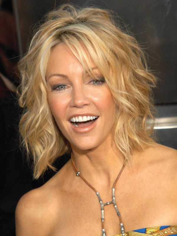 Heather Locklear with Long Bob with bangs