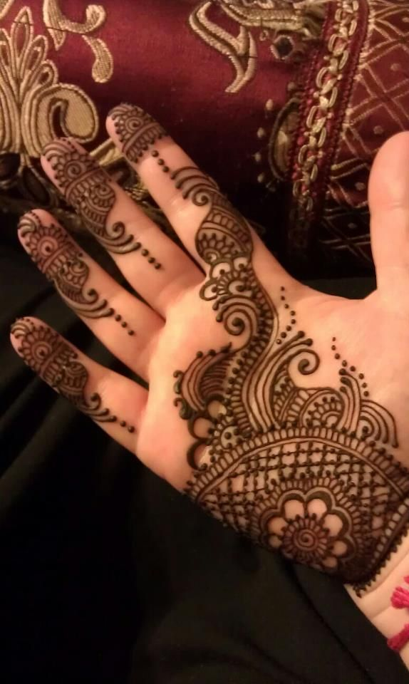 Mehndiweddings to adorn the brides hands feet with beautiful symbolic designes.