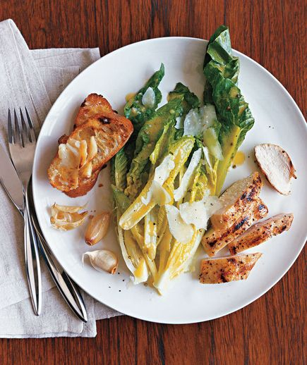 Caesar Salad With Grilled Garlic and Chicken recipe