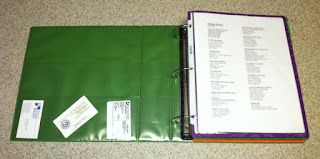 Foster Care Organization...we start a binder for each child or sibling group the day they come to our home. All papers, records, doctor visits and even art projects from school, are kept in the binder until the kids return home. Then we send what is appropriate with birth family. -Dall
