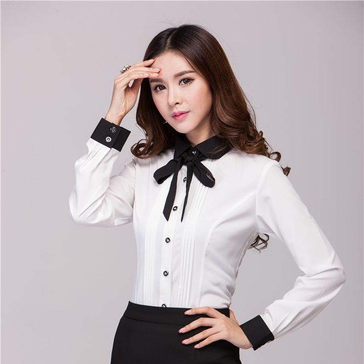 Spring Autumn Formal White Shirts Women Tops and Blouse Ladies Office Uniform Shirts for Work Blusas Femininas 2014