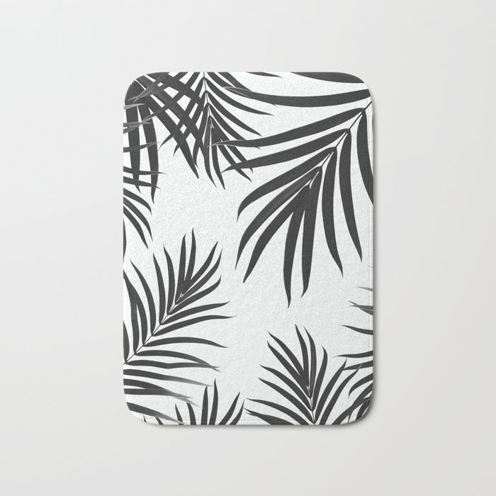 Palm Leaves Pattern Summer Vibes #2 #tropical #decor #art #society6 Bath Mat by anitabellajantz | Society6