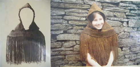 The Orkney Hood gives a fascinating glimpse into Iron Age fashion. The herringbone twill weave mixes sophisticated Danish elements with simpler sections made from the brown wool of the Orkney moorit sheep. Experts think it's a Viking garment remade by Scottish weavers; an early example of a global design being recycled locally.