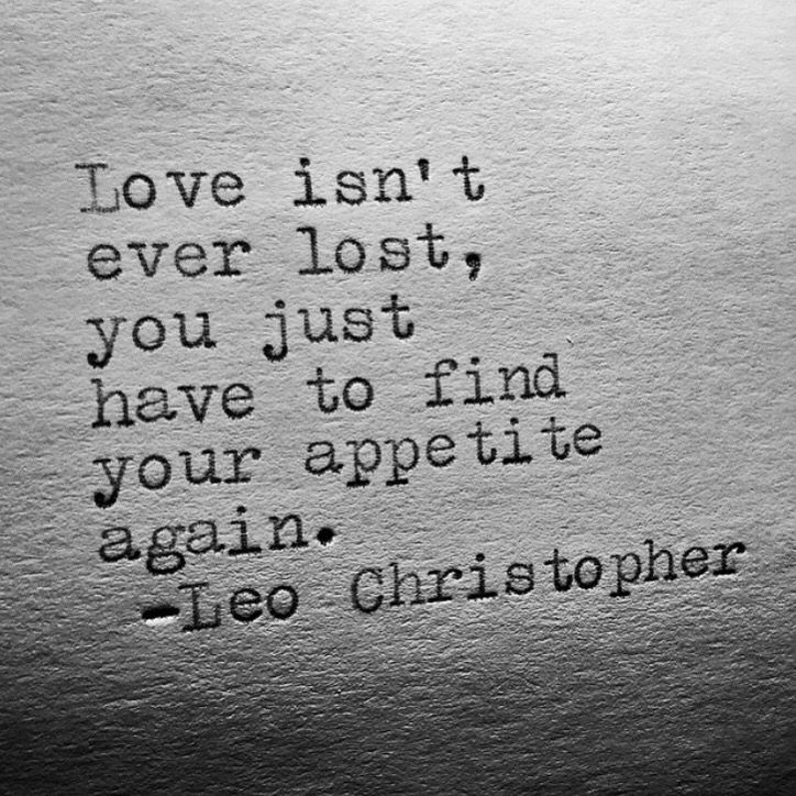 Appetite • Leo Christopher • My book, Sleeping In Chairs, is available worldwide on Amazon.