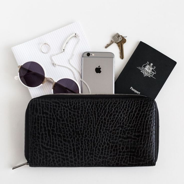 Nomad travel wallet // mute color flatlay inspiration