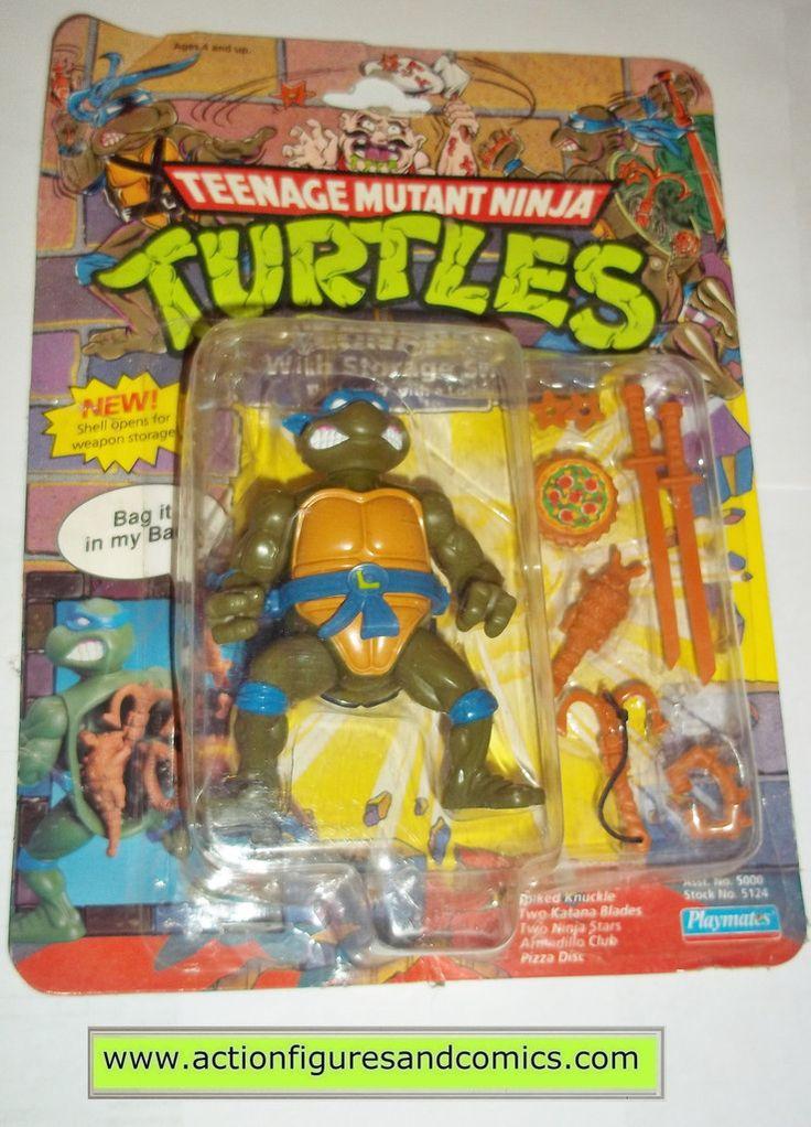 teenage mutant ninja turtles LEONARDO Storage shell leo vintage playmates toys mib moc mip tmnt