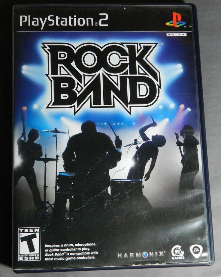 Rock Band PS 2 game with case and Instructions-no accessories