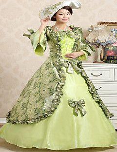 steampunk®top luce vendita vestito dalla principessa stampa verde del vestito da partito vittoriano a tema lungo abiti da ballo film