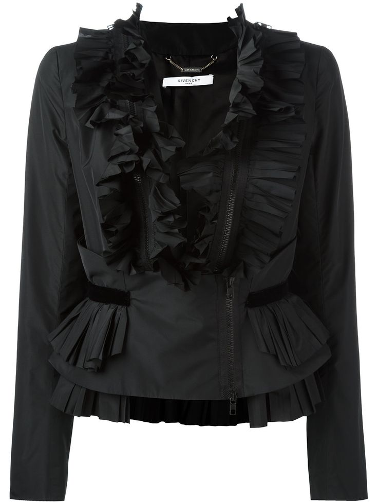 Givenchy frill zip-up blouse