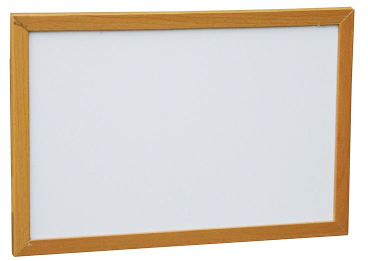 Wood Framed Wall Mounted Magnetic Whiteboard