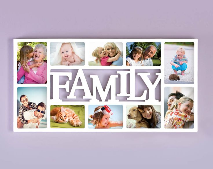10-Piece Wooden Photo Frame £19  Family photo frame with space for 10 photos. Hanging fixtures on the back. Size H36.5 x W71 x D2cm  Code: 779237  KLife Kleeneze Wallart