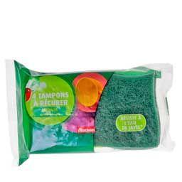 Vente AUCHAN Tampons à recurer spécial vaisselle Médium, 4 pièces en ligne - Auchan:Direct