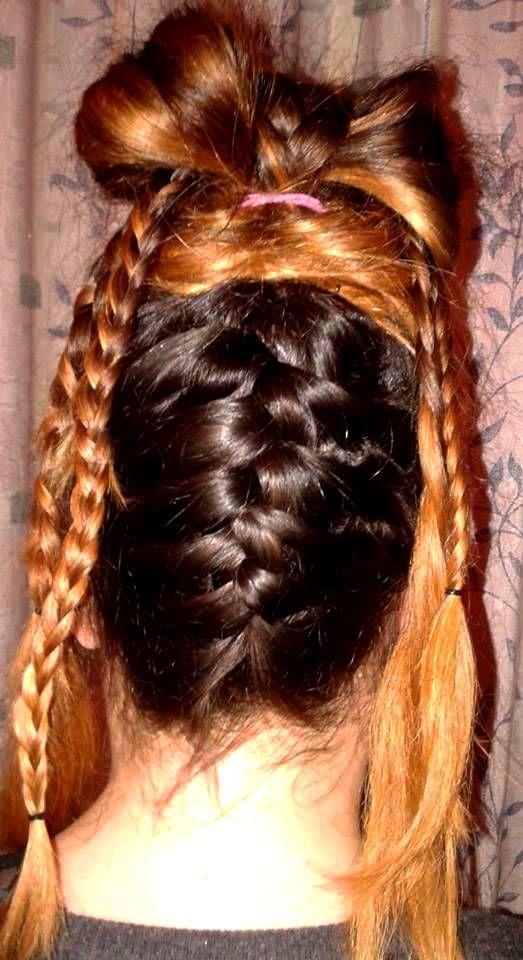 hair bow long hair braidw @dwra86ntenti