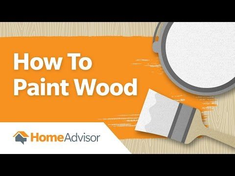 """How to Paint Wood"" video. Learn how to paint over wood like a professional. Why? Even though painting is an easy project, a simple mistake can ruin the entire thing. Use this 1 minute how-to video to guide you through the DIY process."