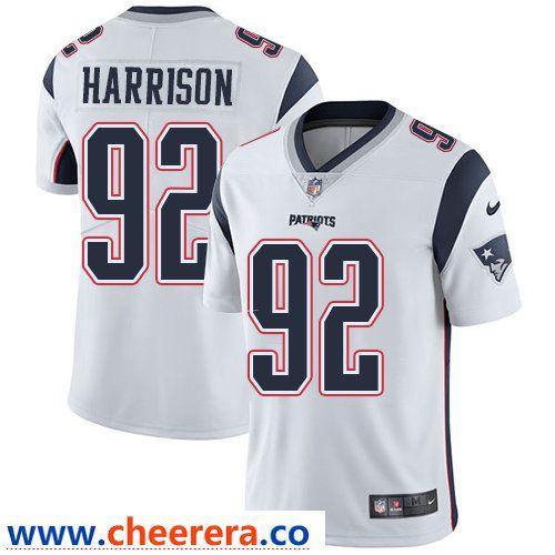 9459afa09 Nike New England Patriots  92 James Harrison White Stitched NFL Vapor  Untouchable Limited Jersey