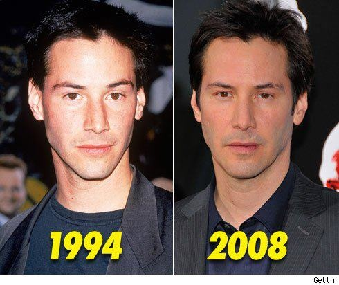 Keanu Reeves? He is a vampire.  Just makes him that much hotter!