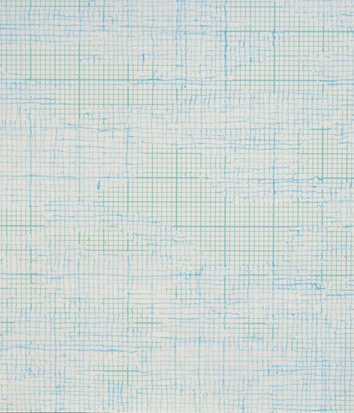 """Louise Hopkins, """"Untitled (476)"""", acrylic ink on metric graph paper, (detail), 2003."""