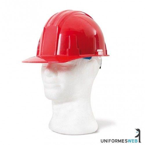 Casco de protección con ajuste regulable de cabeza mediante rueda, arnés interior de cuatro puntos.Cómodo y acolchado en la frente.