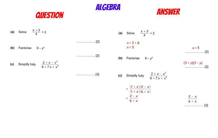 GCSE REVISION Solving Simplifying Algebraic Fractions – Simplifying Algebraic Fractions Worksheets