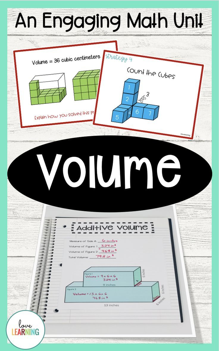 Teaching volume is so much fun! Tons of ideas for volume activities [ 1177 x 736 Pixel ]