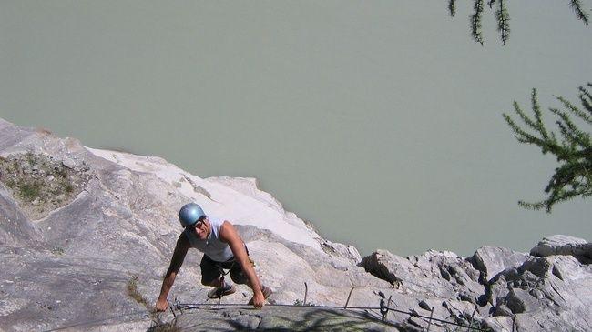 Via ferrata on the biggest Alpine glacier