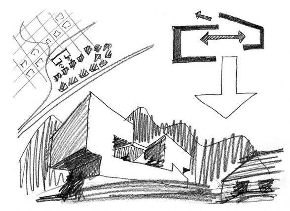Lumino House architecture sketch