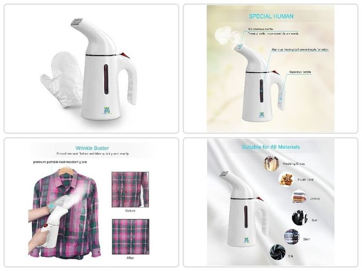 150ml Portable Handheld Fabric Steamer Clothes Fast Heat-up Travel Garment White #HogarTech