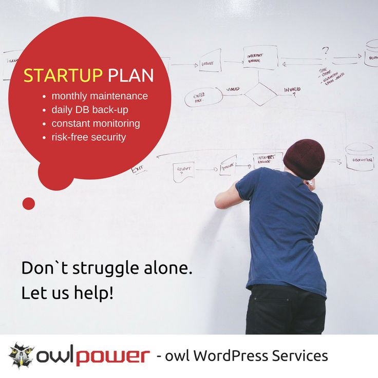 When launching a #startup you have a lot of things on your mind. Your #WordPress #site maintenance should not be one of them. Don`t struggle alone. Get your STARTUP #maintenance plan! https://owlpower.eu/