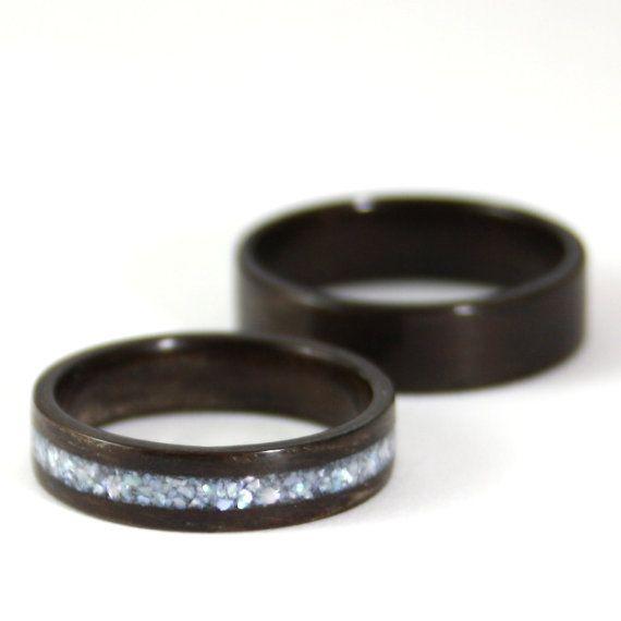 Hölzerne Hochzeit Ring Set Palisander-Holz-Ring mit von Harestree