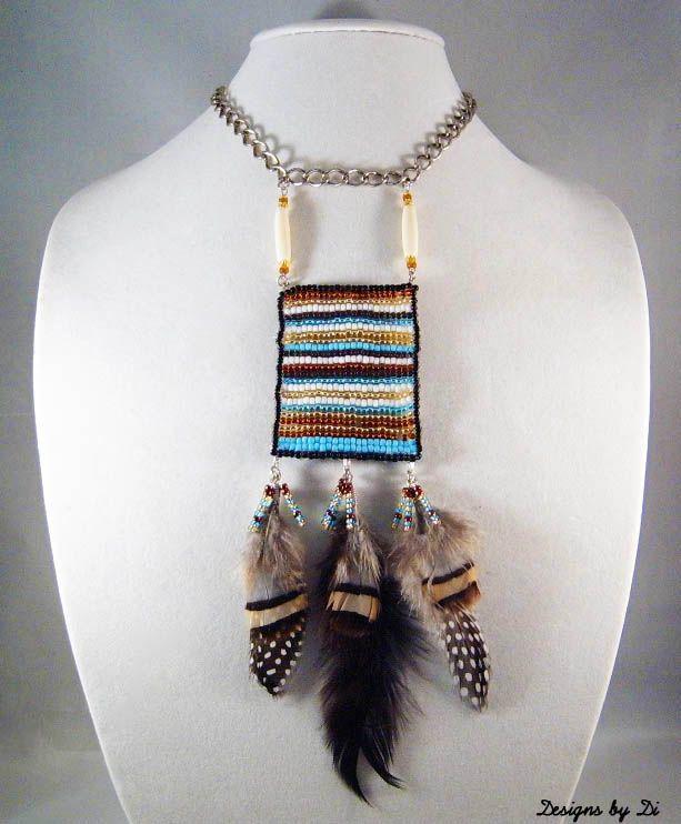 Striped Frame Necklace