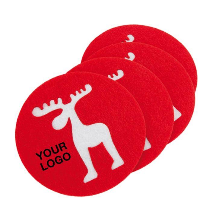 Set sottobicchieri natalizi in poliestere personalizzati con il tuo logo #gadget #cucina #natale