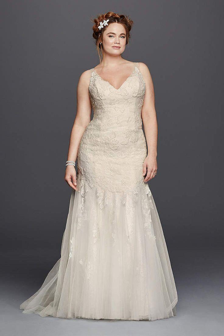 David's Bridal has beautiful plus size wedding dresses