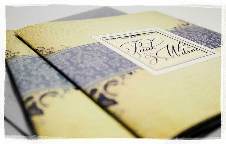Modern Vintage Wedding Invitation Booklets.  #wedding #invitation #vintage