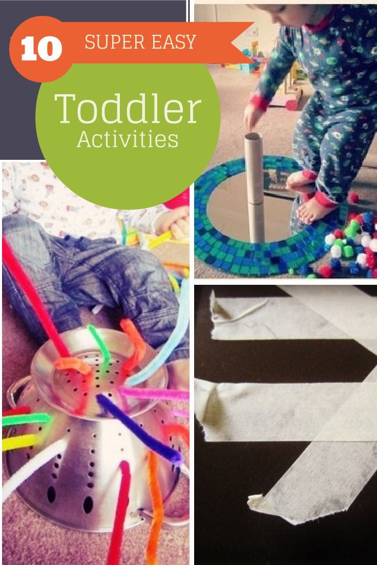 10 super easy toddler activities - quick to set up and no mess