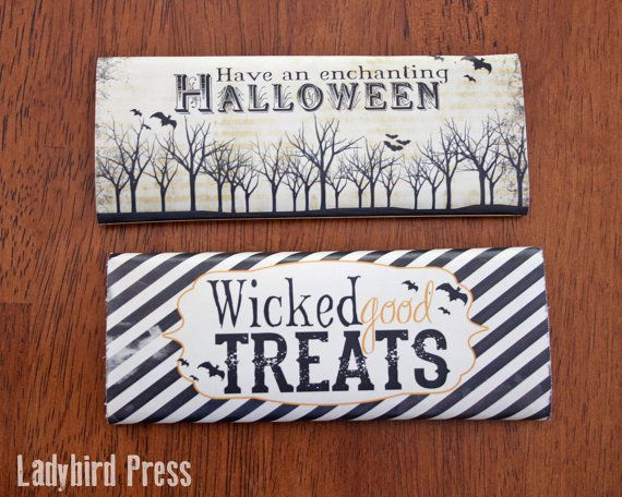 Printable Halloween Candy Bar Wrappers!