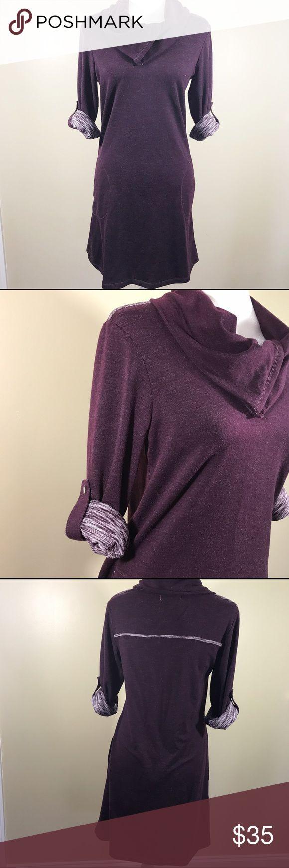 "Max Studio Weekend burgundy sweater dress ✨ Excellent condition, size Small. Armpit to armpit 18"" Armpit down 27"" Shoulders down 35"" Max Studio Dresses"