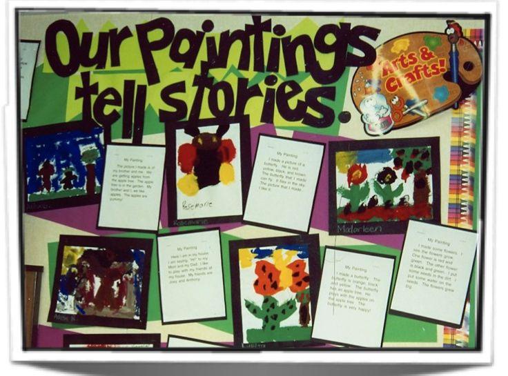 Art Painting Bulletin Board Idea