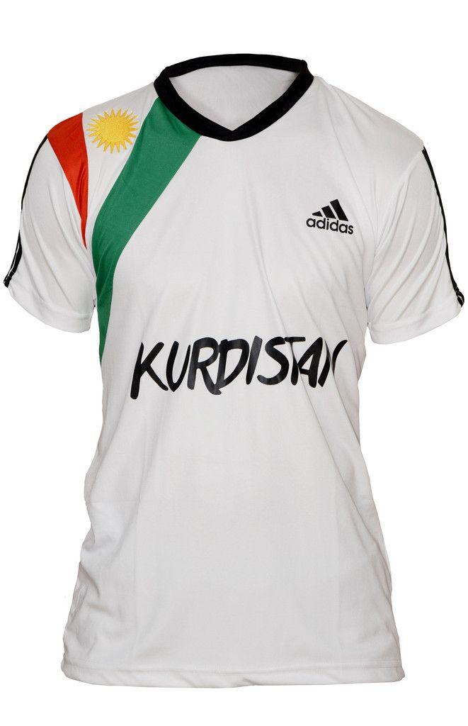 Kurdistan Flag Shirt White – Exclusively available on Kurdish Webshop | Order now for free Kurdish Bracelets