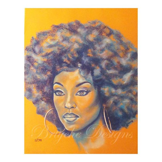 Orange is the New Black African American Art Wall Art by brtyche