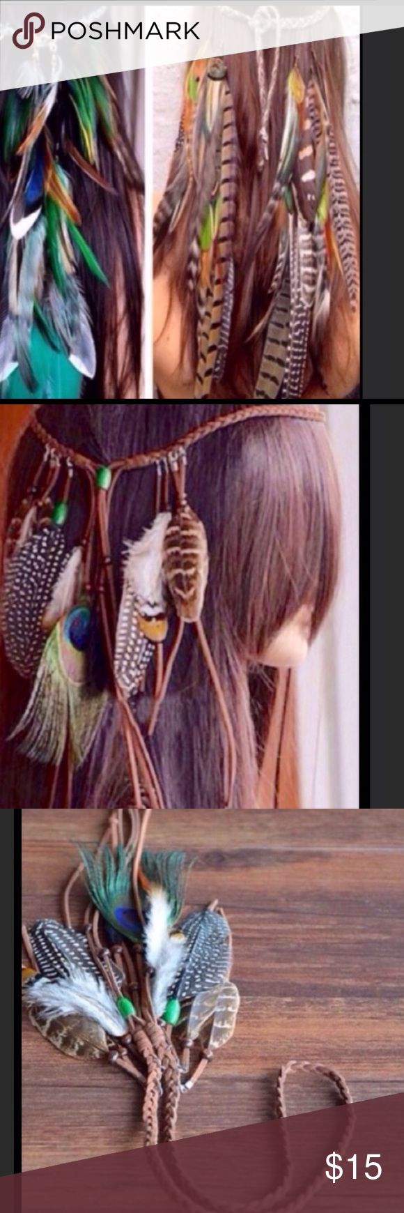 Fashion Indian feathers headband👲🏾👲🏾👲🏾👲🏾 Handmade Indian headband Brand New handmade Accessories Hair Accessories
