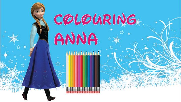 Fun Colouring Disney Princesses: Anna From Frozen Cute drawing!