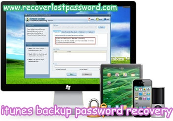 how to find lost iphone backup password