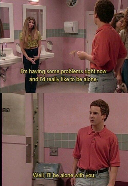 Let's be real, you'd be lost without Mr. Feeny and Cory Matthews.